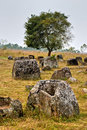 Plain of Jars, Phonsavan, Laos. Royalty Free Stock Photo