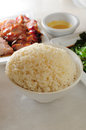 Plain steam rice in bowl Royalty Free Stock Photo