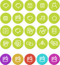 Plain stickers icon set: Internet blogging Stock Images
