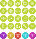 Plain stickers icon set: Wireless and Networking Stock Photo