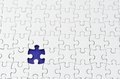 Plain white jigsaw puzzle. Stock Image