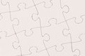 Plain white jigsaw puzzle blank completed Stock Photography
