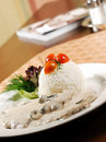 Plain white rice with thai sauce Stock Image