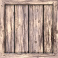 Plain Wood Crate Royalty Free Stock Photo