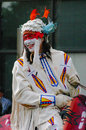 Plains indian on horseback calgary stampede parade calgary alberta Stock Photos