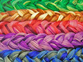 Plait cotton thread Royalty Free Stock Photos
