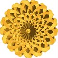 Plaited Golden Flower Royalty Free Stock Photos