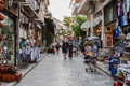Plaka neighbourhood athens greece with its shops and stores Royalty Free Stock Photography