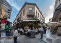 Plaka neighbourhood athens greece with its shops and stores Royalty Free Stock Photo