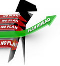 Plan Ahead Beats No Planning Overcoming Problem Stock Photo