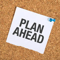 Plan Ahead Royalty Free Stock Photo