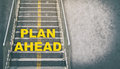 Plan ahead stepping up success concept Royalty Free Stock Photo