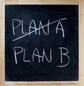 Plan B Stock Photography