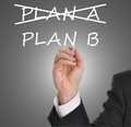 Plan b business strategy changing from a to Royalty Free Stock Photo
