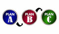 Plan A B C Alternate Trial Back Up Ideas Strategy Circles