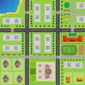 Plan Of City. Top view of the city Royalty Free Stock Photo