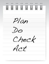 Plan do check act notepad illustration design over a white background Stock Photo