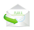 Plan a email information concept illustration design over white Stock Images