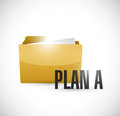 Plan a folder illustration design over white background Royalty Free Stock Photos