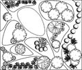 Plan of garden Royalty Free Stock Photo