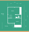 Plan of a house with a green background Stock Image
