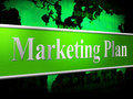 Plan marketing shows scenario advertising and proposition representing formula programme schedule Royalty Free Stock Images