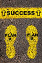 Plan A Plan B to Success message. Conceptual image Royalty Free Stock Photo