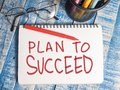 Plan to Succeed, Motivational Words Quotes Concept Royalty Free Stock Photo