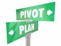 Plan Vs Pivot Change Direction Road Signs Royalty Free Stock Photo