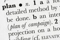 Plan word dictionary definitio Stock Images