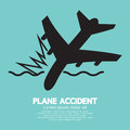 Plane accident sinking into the sea illustration Royalty Free Stock Photos