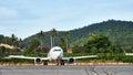 Plane on airstrip Royalty Free Stock Photo