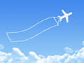 Plane on Cloud shaped ,dream concept Royalty Free Stock Photo