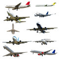 Plane collection isolated on a white background high resolution with many planes clean x pixels Royalty Free Stock Photography
