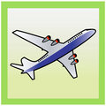 Plane  icon. Royalty Free Stock Photography