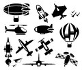 Plane icons vector set eps Stock Photos