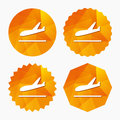 Plane landing icon. Airplane transport symbol. Royalty Free Stock Photo