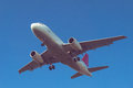 Plane landing at istanbul airport Stock Photography