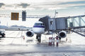 Plane refueling Royalty Free Stock Photo