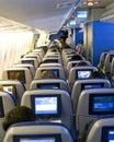 Plane seats Royalty Free Stock Photo