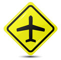Plane sign vector icon modern eps gradient Stock Photos