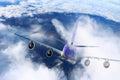 Plane in the sky flight travel transport airplane background black white