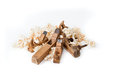 Planers with wooden chips, wood shavings Stock Image