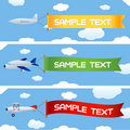 Planes with message Stock Images