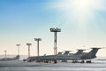 Planes on the runway aeroport Royalty Free Stock Photography