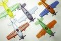 Planes on a white background Stock Photos