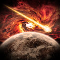 Planet Earth Apocalypse Royalty Free Stock Photos