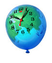 Planet Earth balloon clock Stock Photo