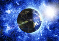 Planet earth blue in space Royalty Free Stock Image