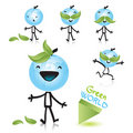 Planet earth cartoon character Royalty Free Stock Photo